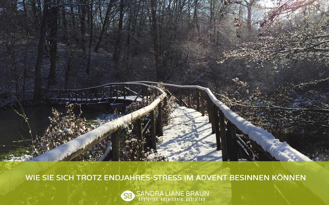 Wie Sie sich trotz Endjahres-Stress im Advent besinnen können