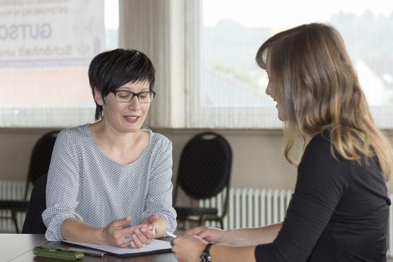 Sandra im Coaching
